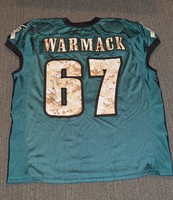 EAGLES - Chance Warmack SALUTE TO SERVICE SIGNED PRACTICE WORN JERSEY NOVEMBER 2017 WITH CAMO NUMBERS