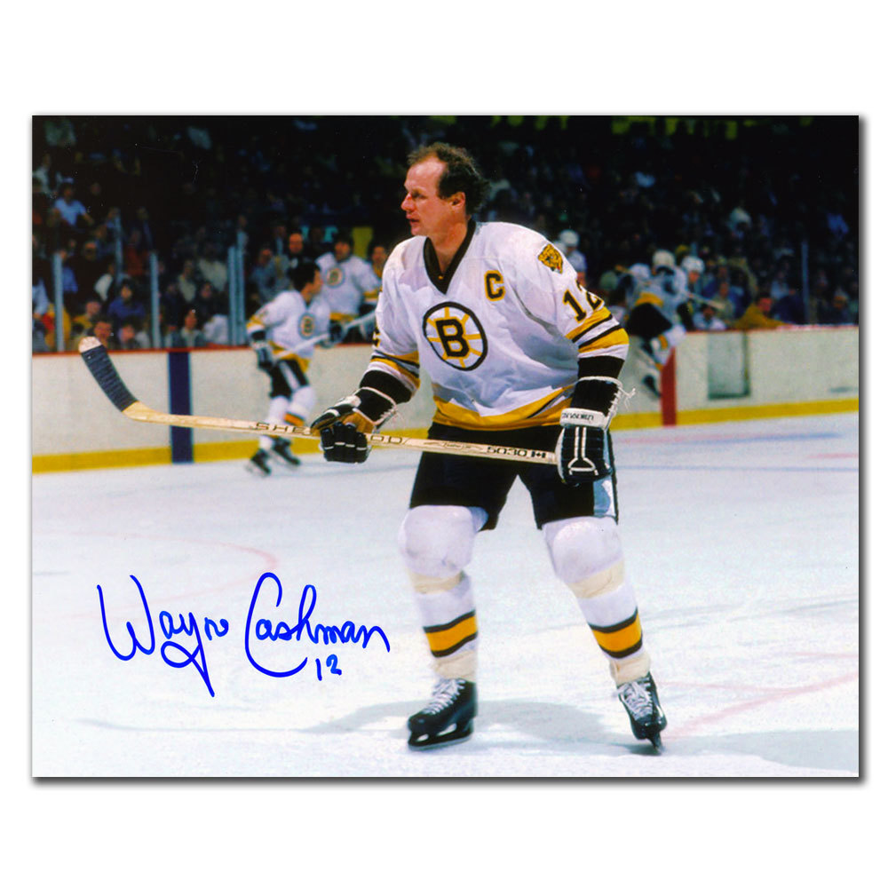 Wayne Cashman Boston Bruins CAPTAIN Autographed 8x10