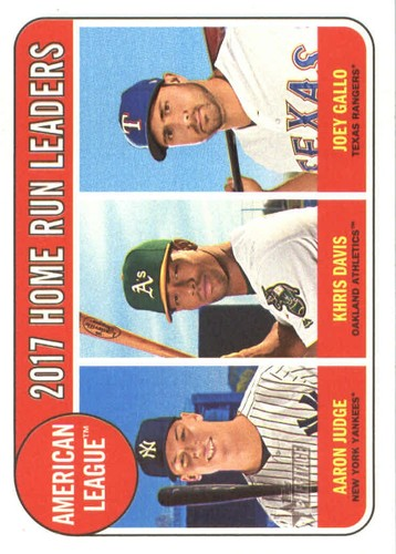 Photo of 2018 Topps Heritage #5 Aaron Judge/Joey Gallo/Khris Davis LL