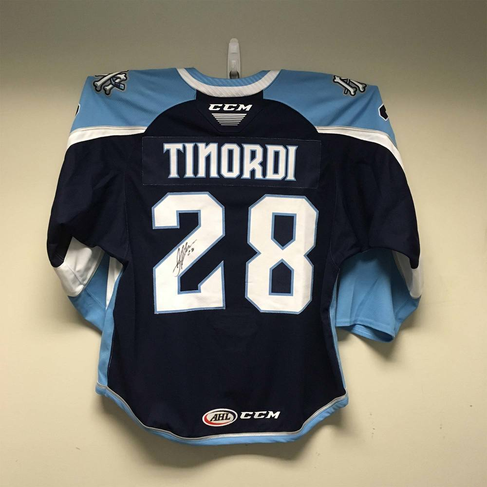 Milwaukee Admirals Captain's Jersey Worn and Signed by #28 Jarred Tinordi