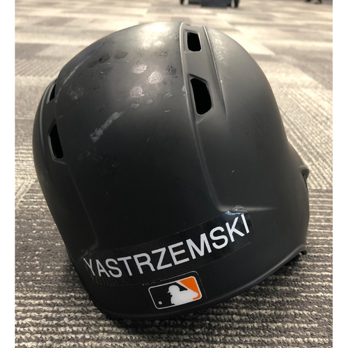 Photo of 2019 Game Used Batting Helmet used by #5 Mike Yastrzemski on 5/25 vs. ARI - MLB Debut & 5/26 vs. ARI - First Major League Hit - Size 7 1/8