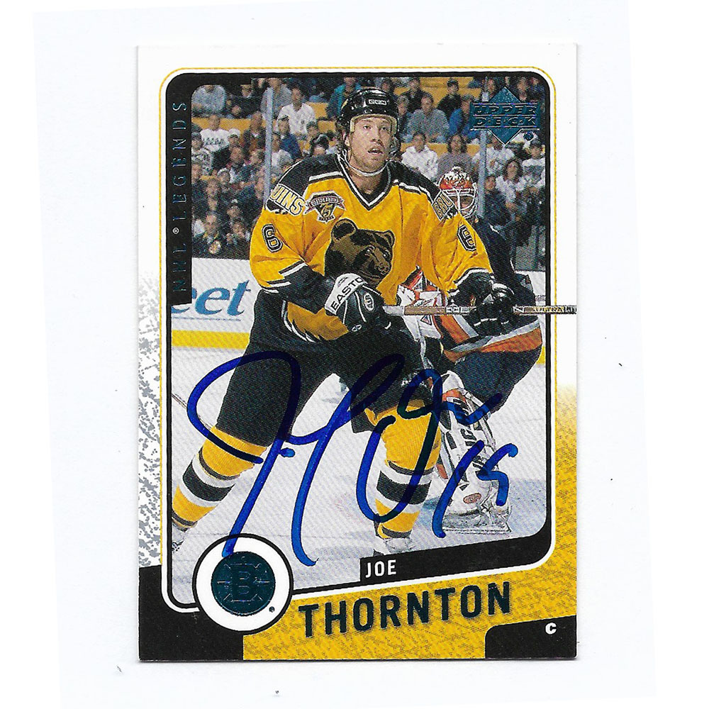 Joe Thornton Autographed 2000-01 Upper Deck Hockey Card