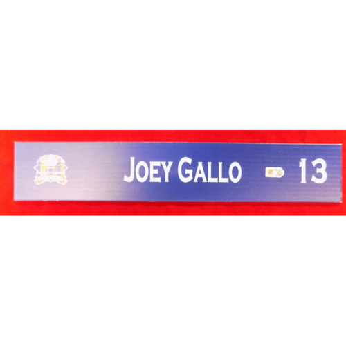Photo of Final Season Team-Issued Locker Tag - Joey Gallo - 9/28/19