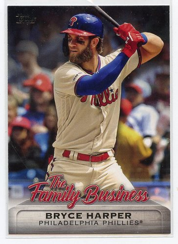 Photo of 2019 Topps Update The Family Business #FB14 Bryce Harper