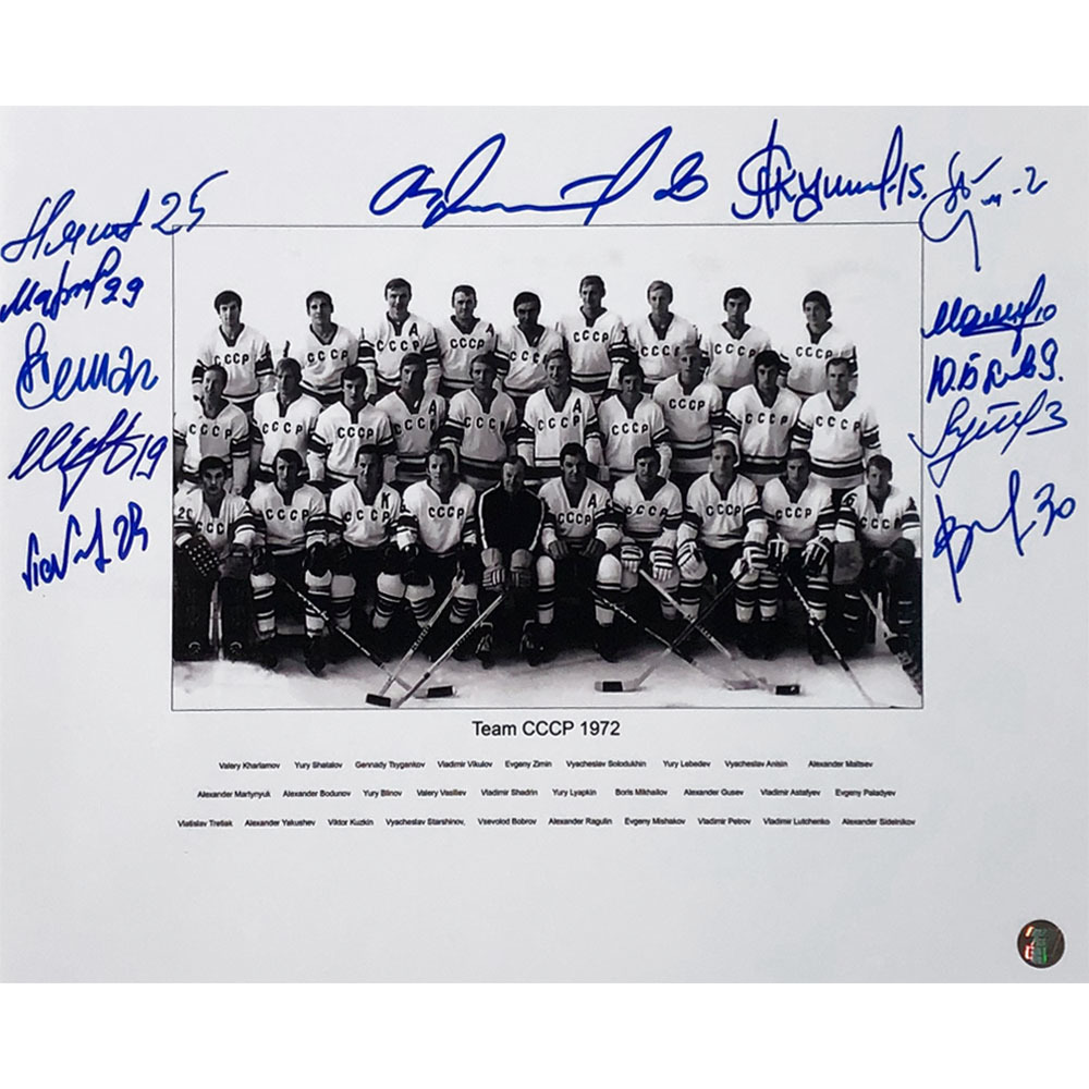 1972 Summit Series Multi-Signed Team USSR 11X14 Photo - 12 Signatures