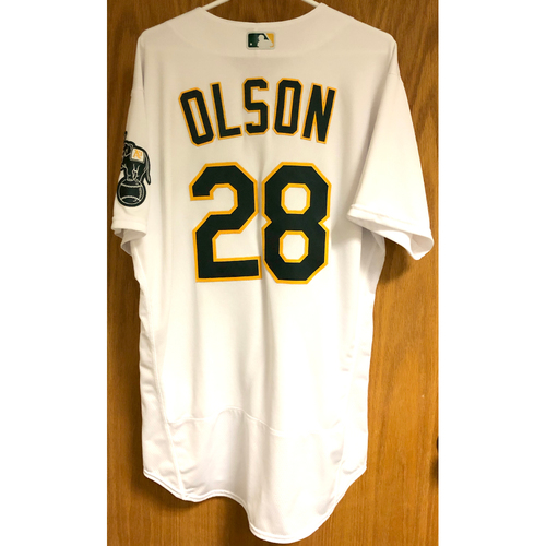 Photo of Game-Used 2020 Jersey - Matt Olson (9/19/20 & 9/29/20 A.L. Wild Card GM 1)