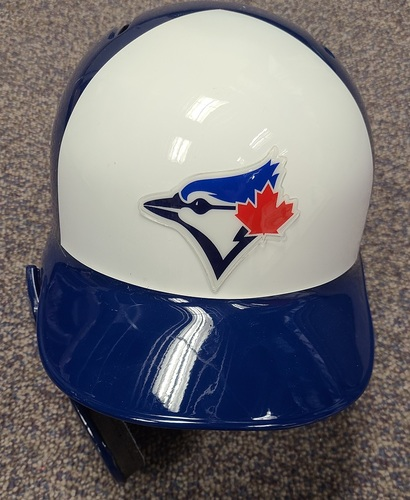 Photo of Authenticated Team Issued Panel Helmet: Right Ear Flap with Face Shield (for Left Handed Batters) - - Choose your size!