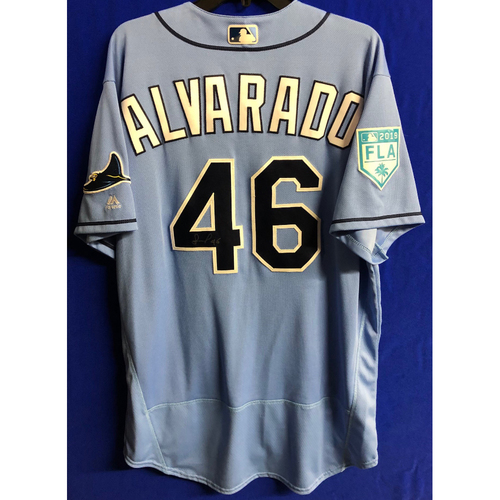 Photo of Team Issued Autographed Spring Training Jersey: Jose Alvarado - 2019