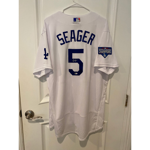 Photo of Corey Seager Autographed Authentic Los Angeles Dodgers Jersey