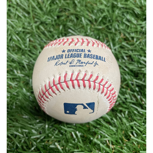 Photo of Game Used Baseball: Luis Patino pitch (93.0 MPH Four Seam Fastball) to Marcus Semien - Luis Patino Rays Debut - Top 2 - April 25, 2021 v TOR