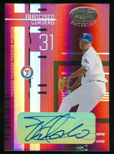 Photo of 2005 Leaf Certified Materials Mirror Autograph Red #92 Francisco Cordero/25
