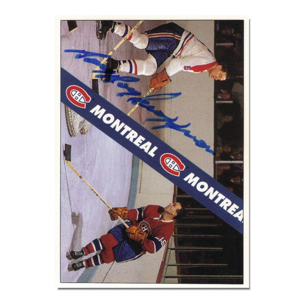 Bernie Geoffrion (deceased) Autographed Montreal Canadiens Card