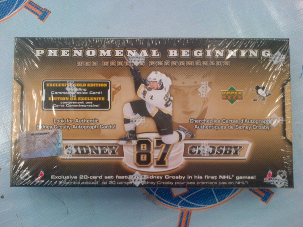 2005-06 UD Sidney Crosby Phenomenal Beginning 20 Card Sealed Box Set - Pittsburgh Penguins