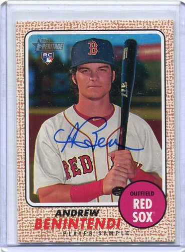 Photo of 2017 Topps Heritage Real One Player Sample Autographs Andrew Benintendi