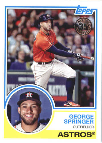 Photo of 2018 Topps '83 Topps #8380 George Springer