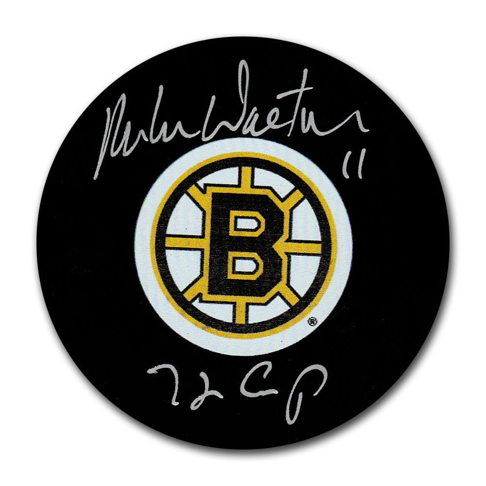 Mike Walton Autographed Boston Bruins Puck w/72 CUP Inscription
