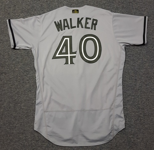 Photo of Authenticated Team Issued 2018 Memorial Day Jersey - #40 Pete Walker (May 28, 2018). Size 46
