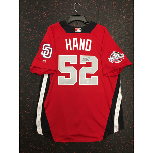 Photo of Brad Hand 2018 Major League Baseball Workout Day Autographed Jersey