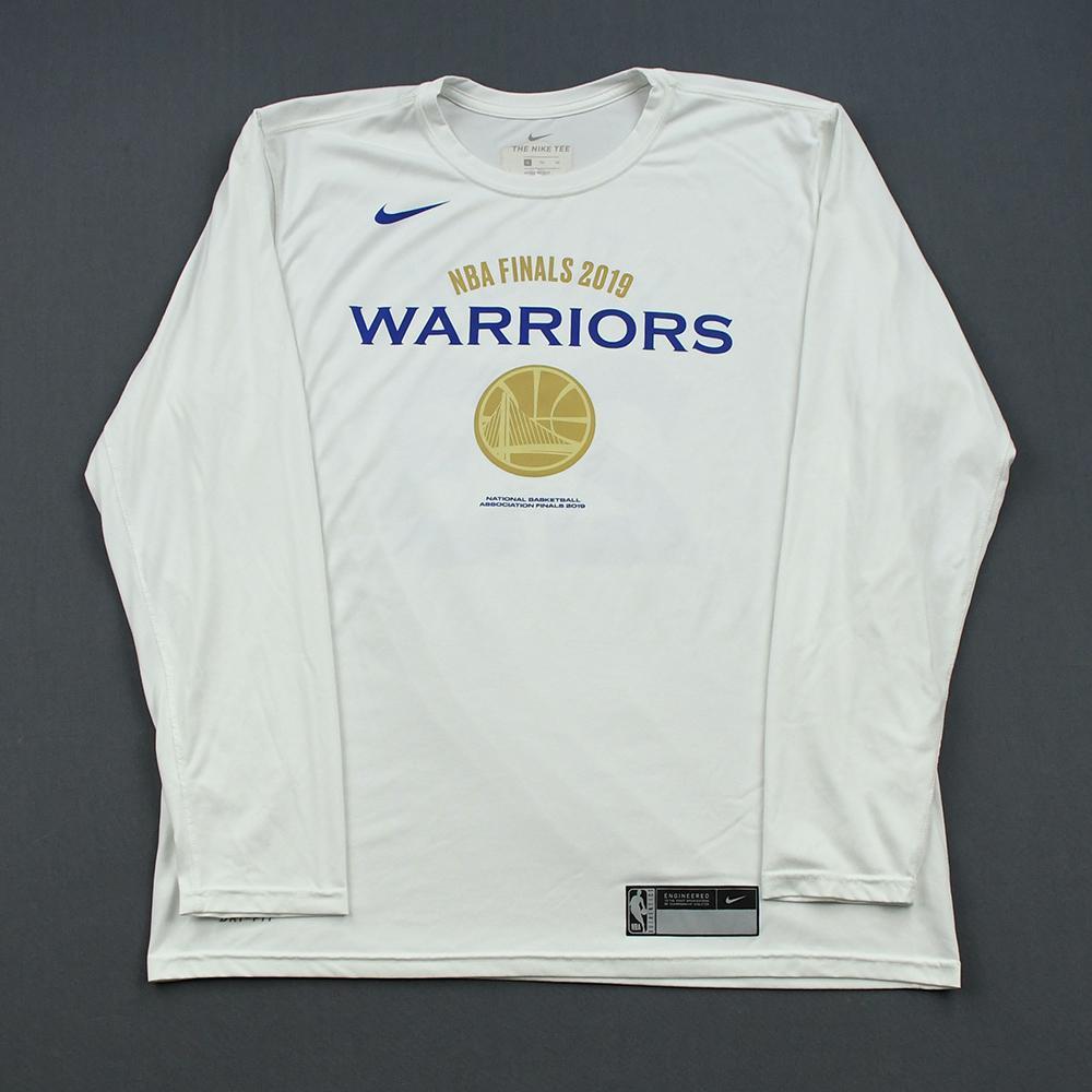 Damian Jones - Golden State Warriors - 2019 NBA Finals - Game-Issued Long-Sleeved Shooting Shirt