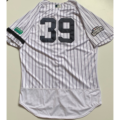 Photo of 2019 London Series - Game-Used Jersey - Mike Tauchman, New York Yankees vs Boston Red Sox - 6/29/19