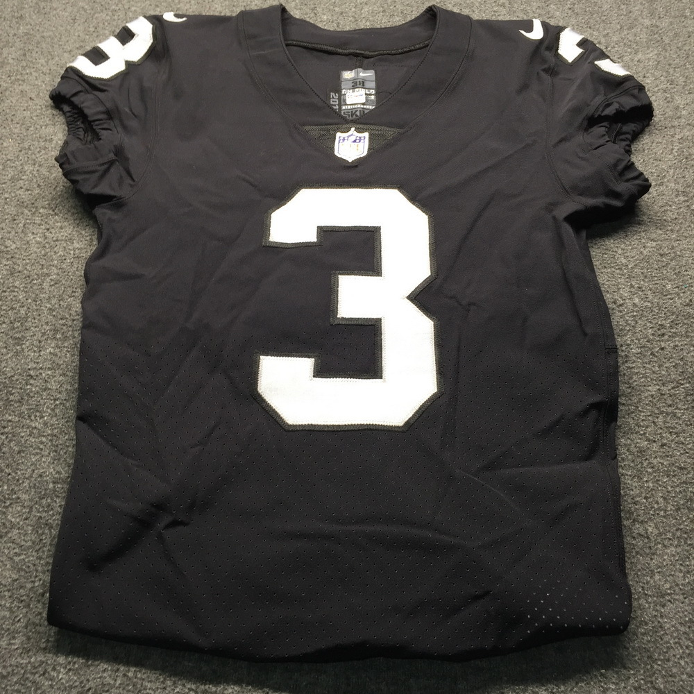 NFL - London Games Raiders Matt McCrane Game Used Jersey VS. Seahawks (October 14th, 2018) Size 38