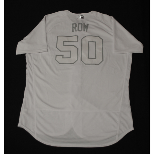 "Photo of Rowan ""ROW"" Wick Chicago Cubs Game-Used 2019 Players' Weekend Jersey"