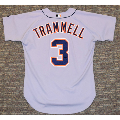 Photo of Alan Trammell Detroit Tigers #3 Road Jersey (NOT MLB AUTHENTICATED)