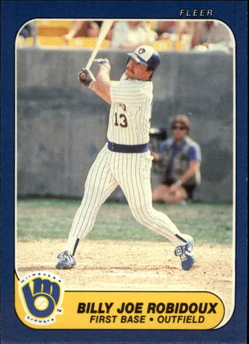 Photo of 1986 Fleer Update #97 Billy Joe Robidoux