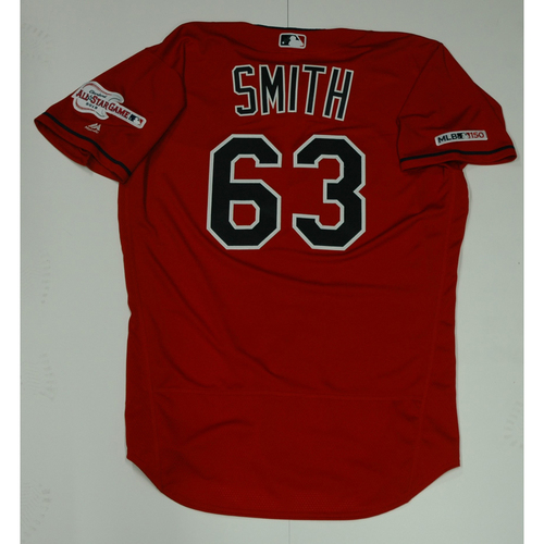 Photo of Josh Smith Team Issued 2019 Red Home Alternate Jersey
