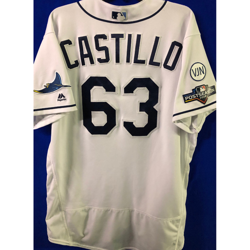 Photo of ALDS Game Used Home Jersey: Diego Castillo (Opener, 3 SO) - October 7 & 8, 2019 v HOU