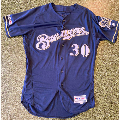 Photo of 2019 Team-Issued Jersey: Craig Counsell #30 Navy Alternate