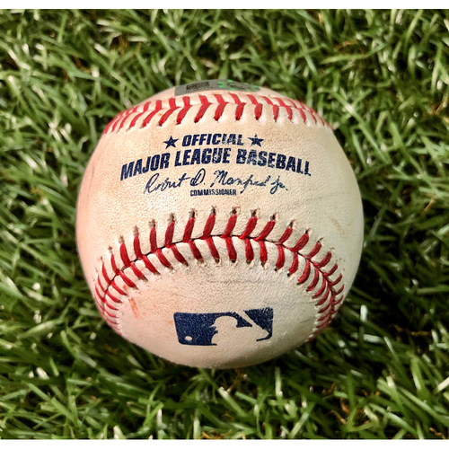 Game Used Baseball: Rafael Devers 2RBI double off Jalen Beeks  - July 22, 2019 v BOS