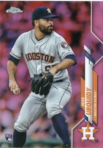 Photo of 2020 Topps Chrome Pink Refractors #142 Jose Urquidy
