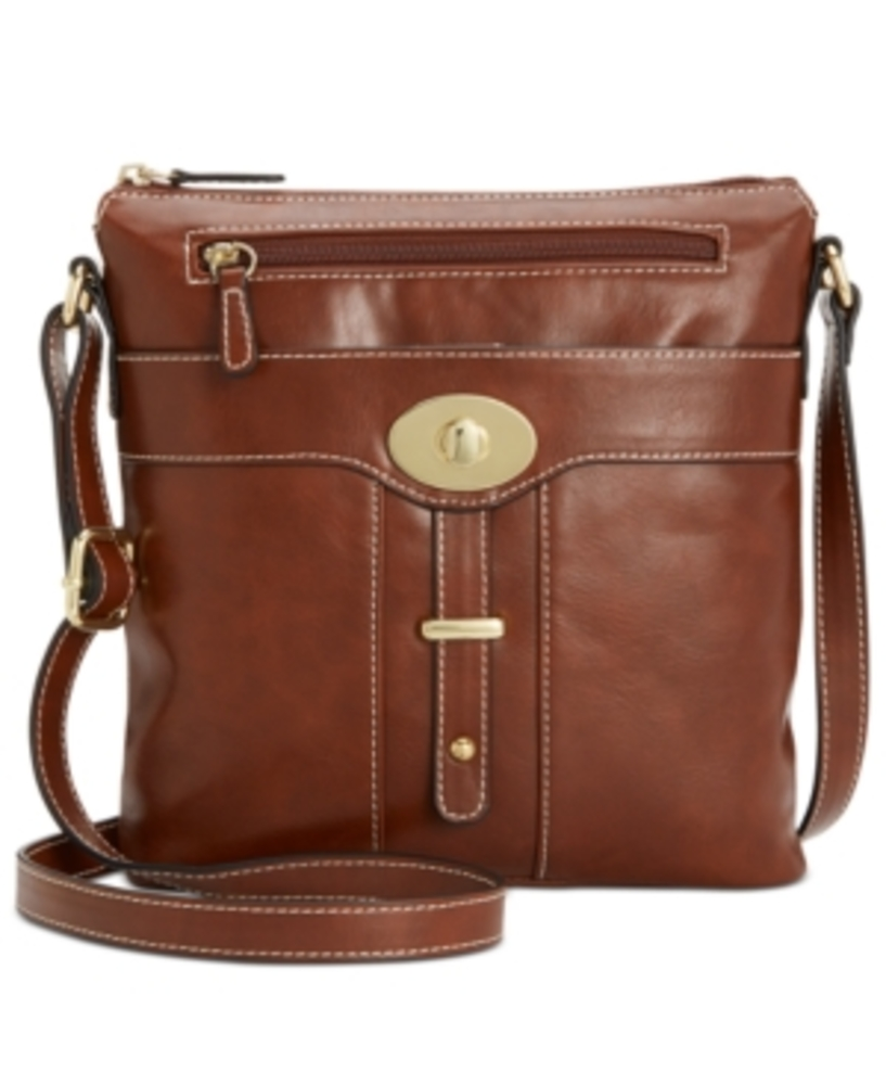 Photo of Giani Bernini Turn-Lock Glazed Crossbody
