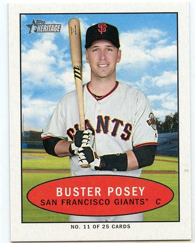 Photo of 2020 Topps Heritage '71 Bazooka Numbered Test #11 Buster Posey
