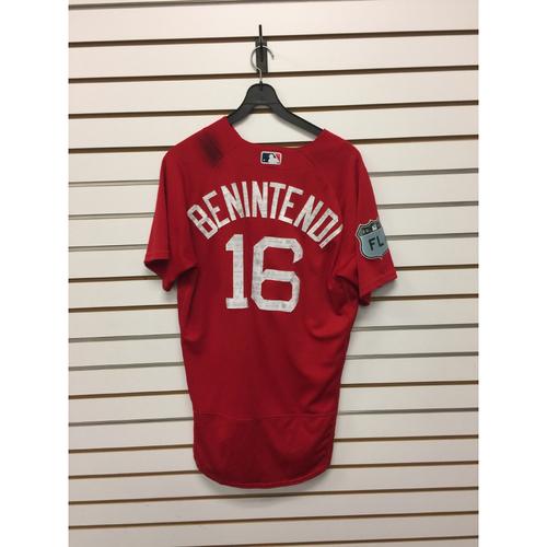 Andrew Benintendi Team-Issued 2017 Spring Training Jersey