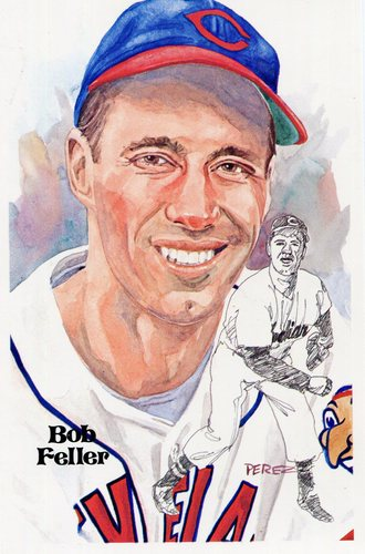 Photo of 1980-02 Perez-Steele Hall of Fame Postcards #87 Bob Feller -- HOF Class of 1962