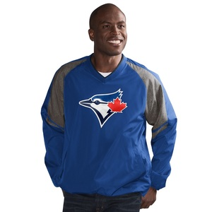 Toronto Blue Jays Three Peat V-Neck Pullover Jacket by G3