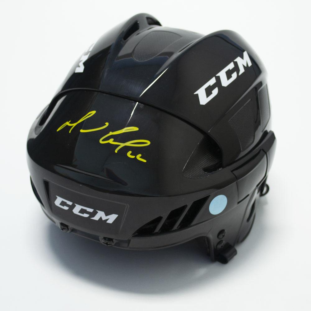 Mario Lemieux Autographed Black CCM Hockey Helmet - Pittsburgh Penguins