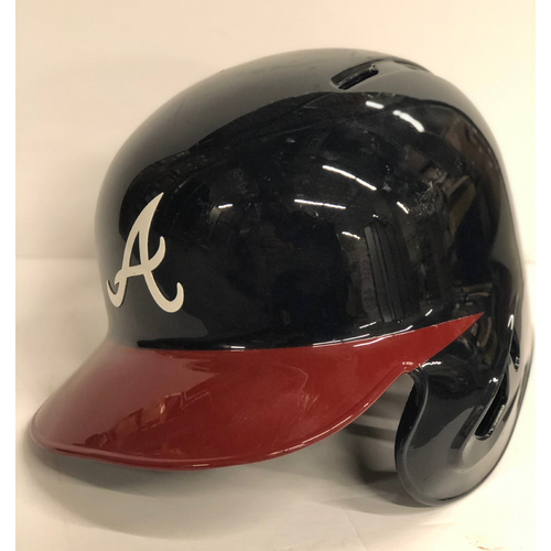 Photo of Mike Foltynewicz Game-Used Postseason Batting Helmet - Worn 10/8/18 - Size 7 5/8