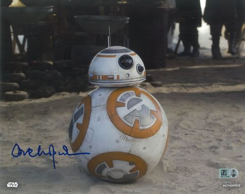 Dave Chapman As BB-8 8x10 Autographed in Blue Ink