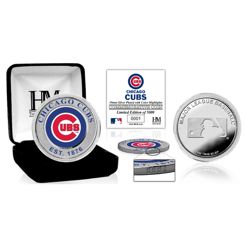 Photo of Serial #1! Chicago Cubs Silver Color Coin
