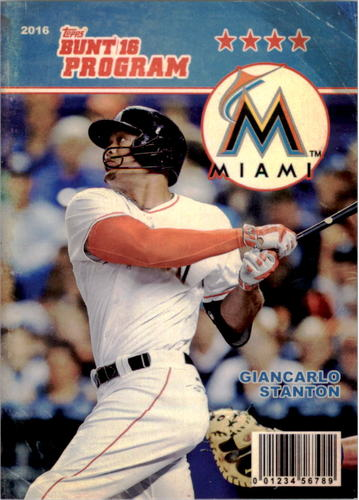 Photo of 2016 Topps Bunt Programs #P26 Giancarlo Stanton