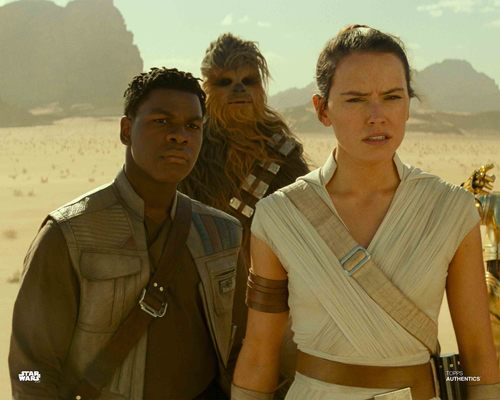 Rey, Finn and Chewbacca