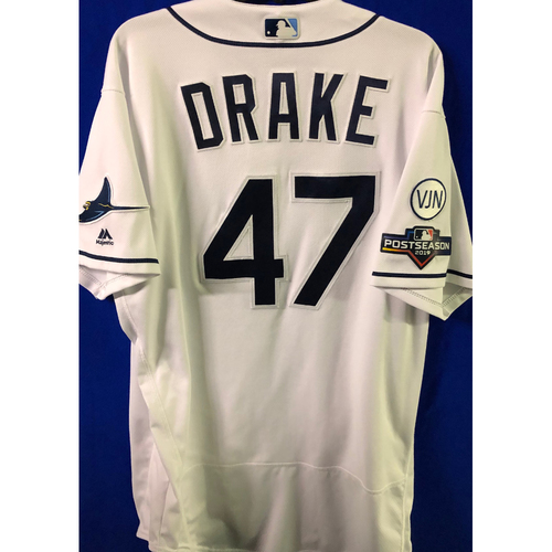 ALDS Game Used Home Jersey: Oliver Drake - October 7 & 8, 2019 v HOU