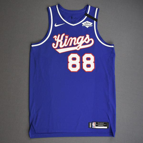 Image of Nemanja Bjelica - Sacramento Kings - Game-Worn Classic Edition 1990-94 Road Jersey - 2019-20 NBA Season