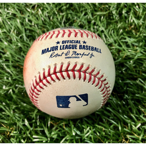 Photo of Game Used Baseball: Xander Bogaerts double, J.D. Martinez RBI double and Christian Vazquez single of Michael Brosseau - July 22, 2019 v BOS