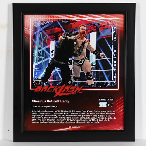 Photo of Sheamus SIGNED Backlash 2020 Signature Series Frame (#1 of 1)