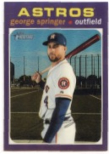 Photo of 2020 Topps Heritage Chrome Purple Refractors #THC244 George Springer