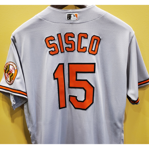 Photo of Chance Sisco Team-Issued Gray Away Jersey - Size 46
